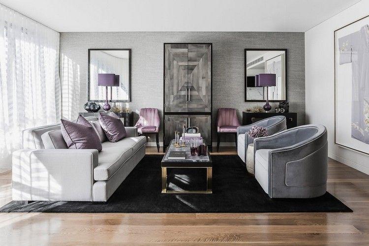 dco salon gris blanc bois en 35 ides pour revitaliser votre intrieur - Deco Salon Gris Et Noir