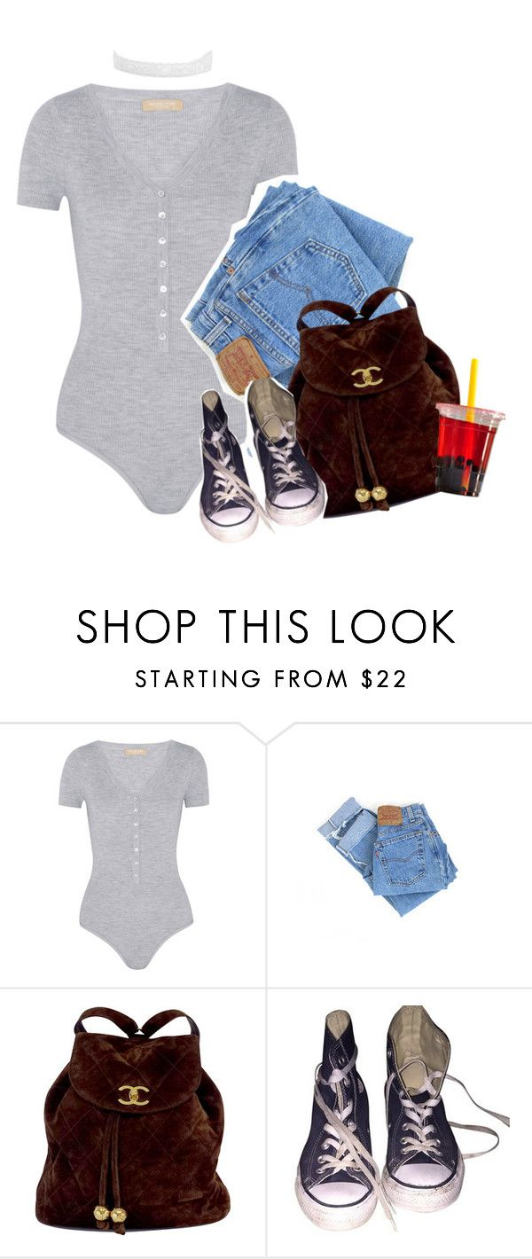 """""""Bummin' it"""" by blacklegends ❤ liked on Polyvore featuring Michael Kors, Levi's, Chanel and Converse"""