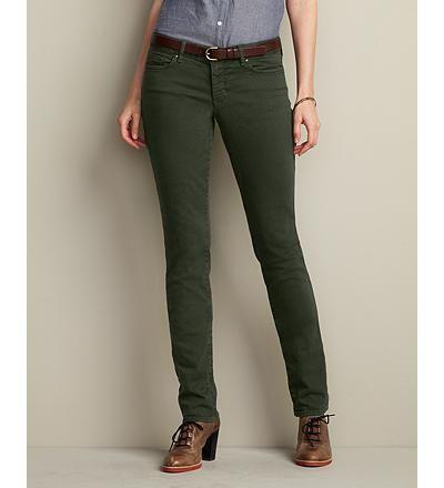 Straight leg jeans not skinny