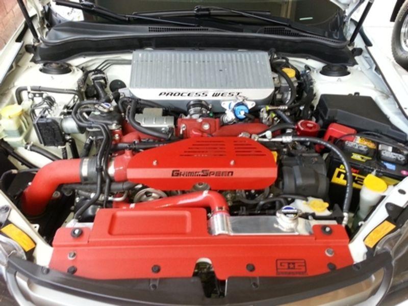 Grimmspeed Radiator Shroud W Tool Tray Red Radiators Sti Hatchback Subaru