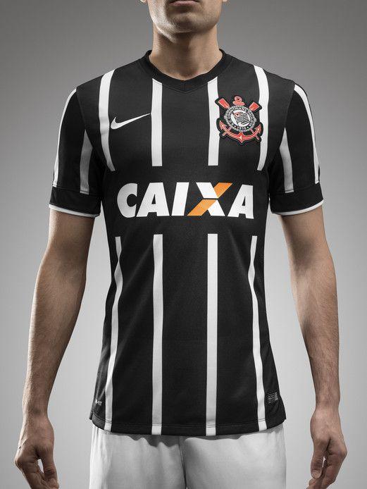 Corinthians - Camisa Reserva - Nike - 2014-2015  15b71800aca9d