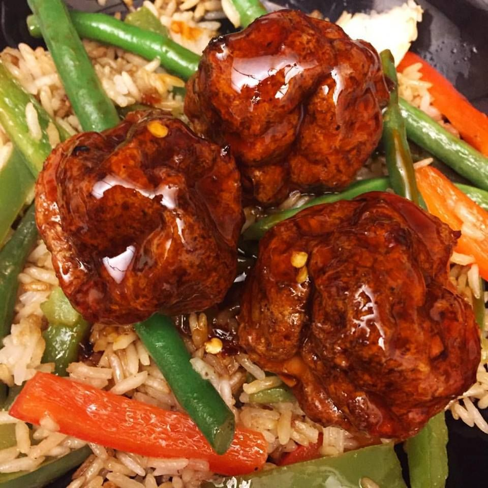 Give me a sticky sauce on anything and I'll devour it. These meatballs were dripping in a wonderfully sticky and sweet sauce. I didn't find these unbearably spicy but they do pack a delightful kick...