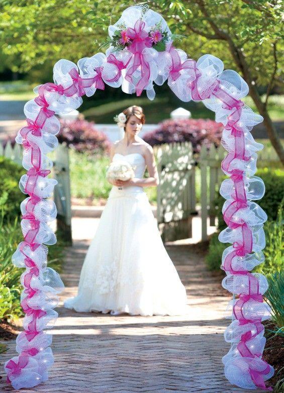 Deco mesh wedding creative pinterest candle rings decorative deco mesh wedding junglespirit Choice Image