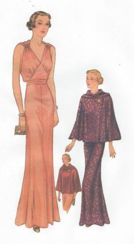 Details zu 1939 Vintage Näh Muster Brustumfang B36 \