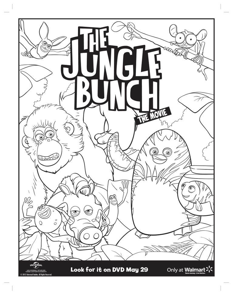The Jungle Bunch Coloring Page
