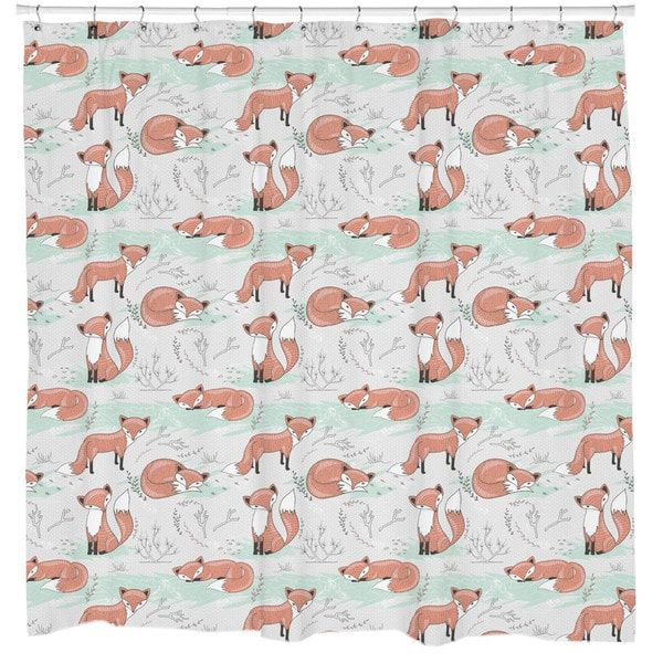 Sharp Shirter Floral Antlers Shower Curtain