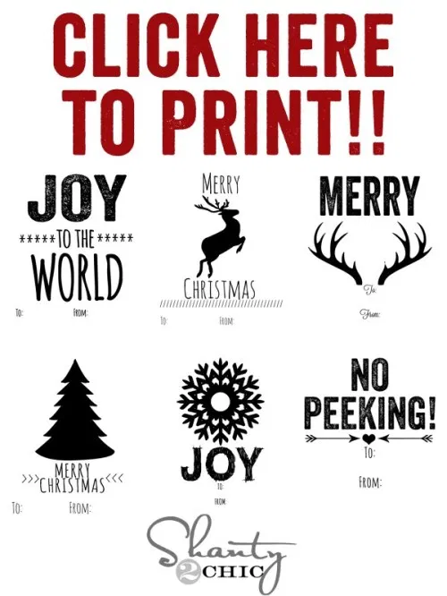 Free Printable Christmas Tags! - Shanty 2 Chic #bonpourcalendrierdelavent