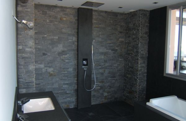 salle-de-bain-ardoise-4jpg (600×390) architecture du0027intérieur - salle de bain ardoise