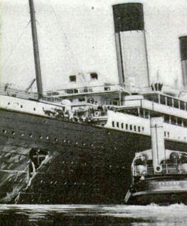 Rms Olympic: RMS Olympic After Her Collision With HMS Hawke.