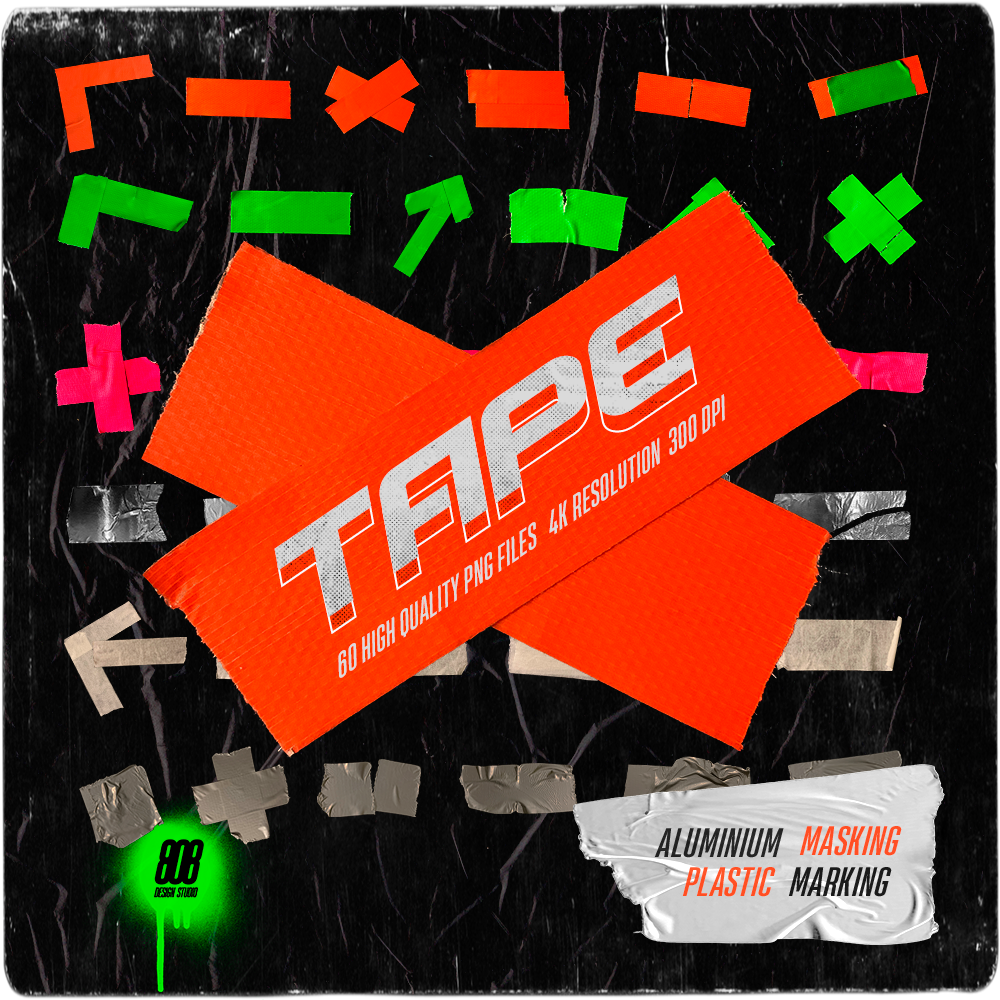 Easy Tape Pack 67 High Quality Png Files 4k Resolution