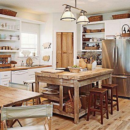 Cocinas con isla | Cocina con isla, Cocinas y Isla de cocina rústica