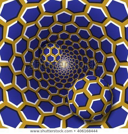Optische Illusionsgrafik. Zwei Bälle mit einem Stock-Vektorgrafik (Lizenzfrei) 406168444