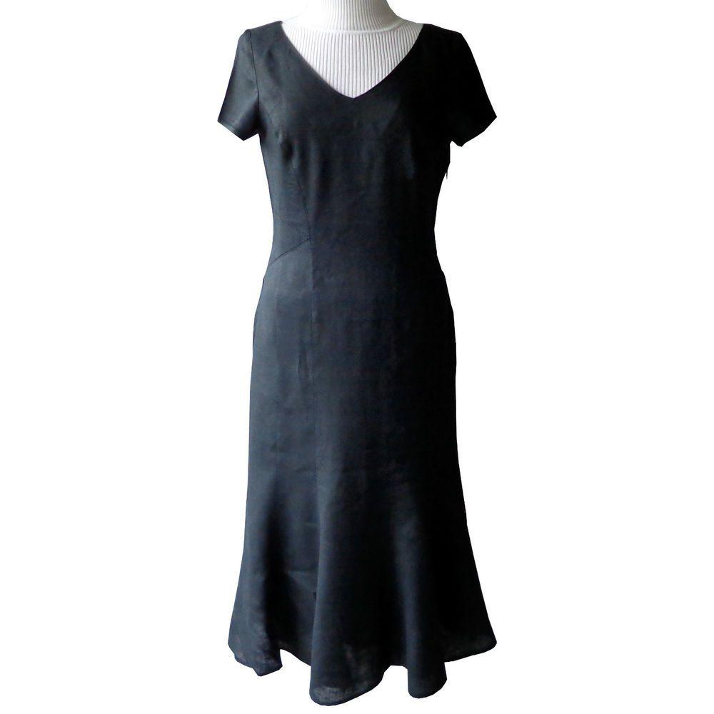 ☆ CASSANI Kleid Leinen Gr. 38 Schwarz ☆ | Kleider | Pinterest | eBay