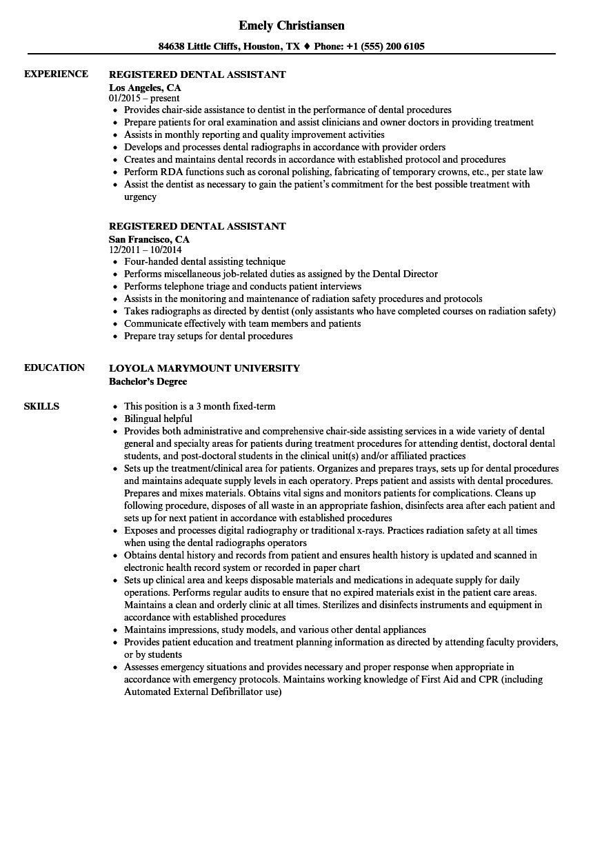 Dental Assistant Job Description For Resume Up To Date Registered Dental Assistant Resume Dental Assistant Job Description Dental Assistant Jobs Assistant Jobs