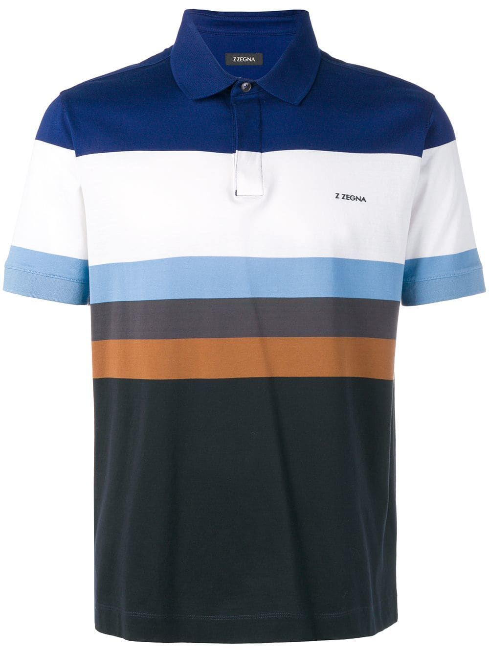 00a0ce38 Z Zegna colour block polo shirt - Blue | Products in 2019 ...