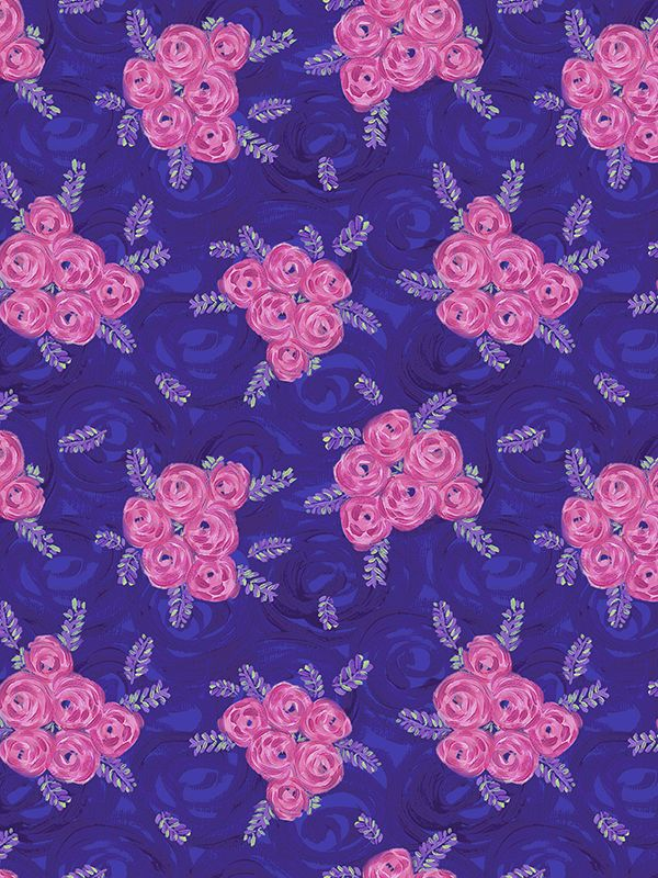 Crafts Jennifer Paganelli PWJP132 Judith's Fancy Deborah Teal Cotton Fabric By Yard