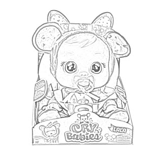 Coloring Pages Of Cry Babies Interactive Baby Dolls In 2020