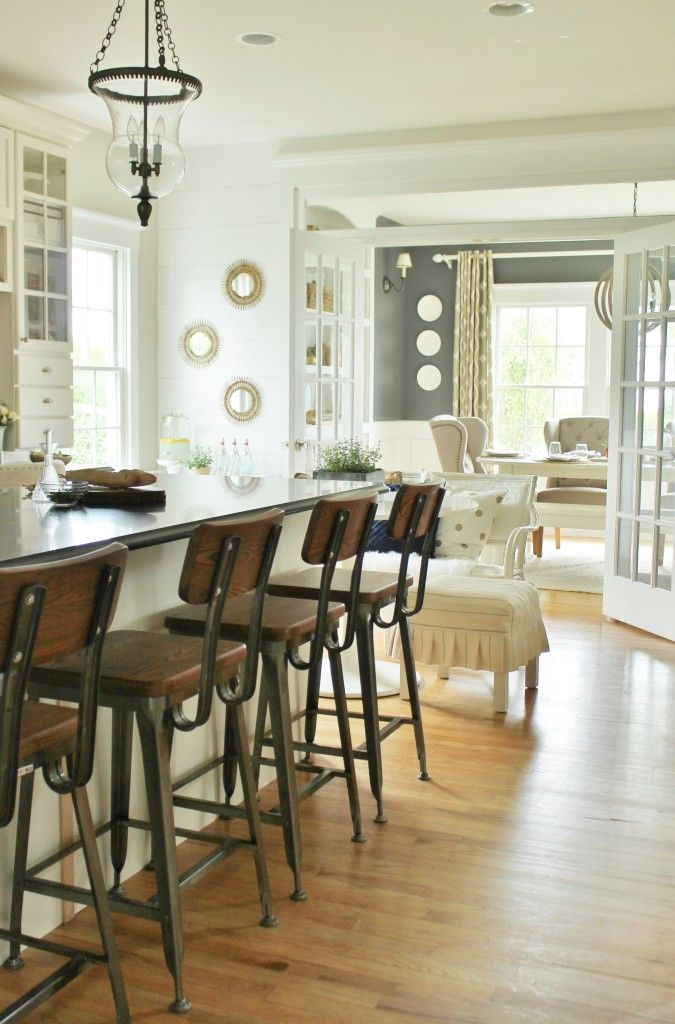 Modern Farmhouse Kitchen Barstools Revealed Farmhouse Kitchen