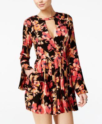 b0dd107c7711e FREE PEOPLE Free People Tegan Printed Cutout Mini Dress. #freepeople #cloth  # dresses