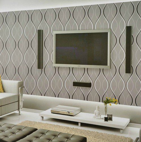 Wall Wallpapers, Patterns Modern Curve | Wallpaper Ideas, Dining