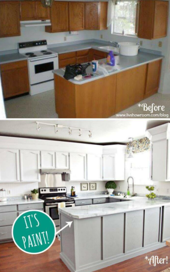 75 Before And After Budget Friendly Kitchen Makeover Ideas