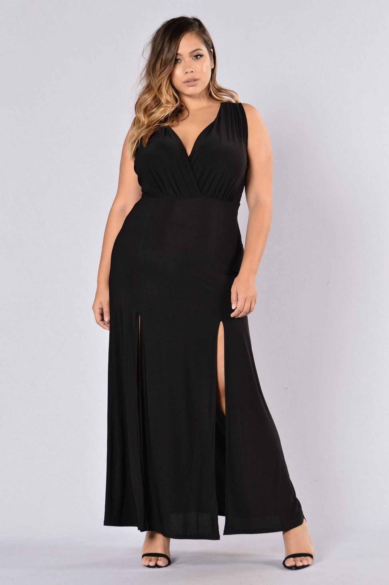 Double Up Dress - Black
