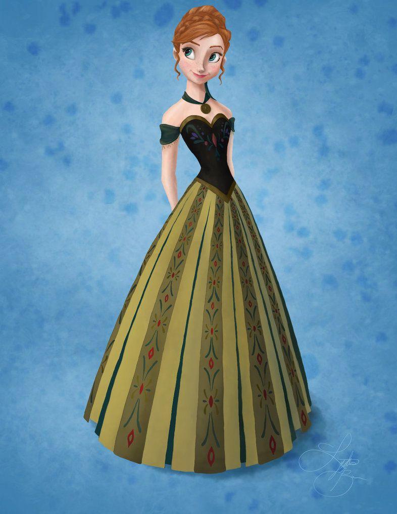 Anna Coloring Sheet By Lydia Burns On Deviantart Anna Frozen Disney Princess Fashion Halloween Princess
