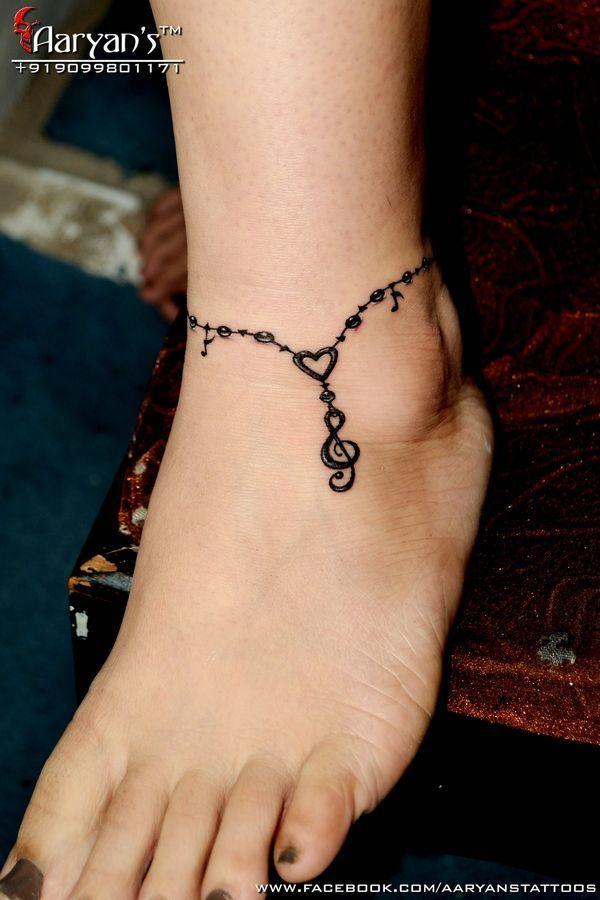 Bildergebnis für ankle chain tattoo