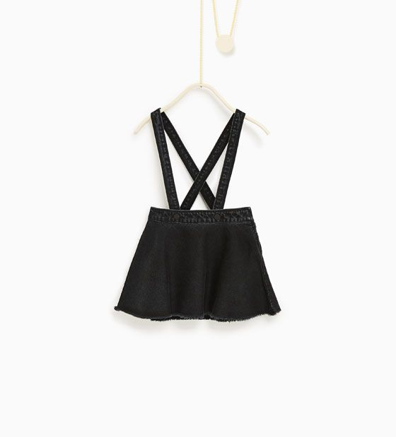 Skirt with suspenders from Zara