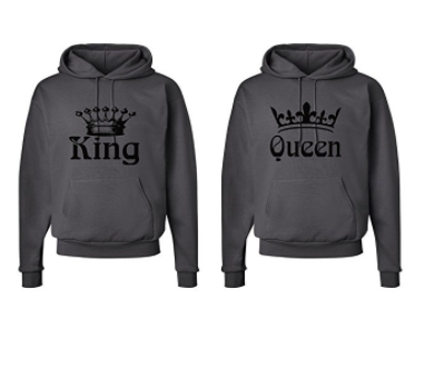 d06c9cdb Hooded Sweatshirt Set – King and Queen Crowns ---------------------- couple  shirt, couple hoodie, matching hoodie, couple goals. relationship goals, ...