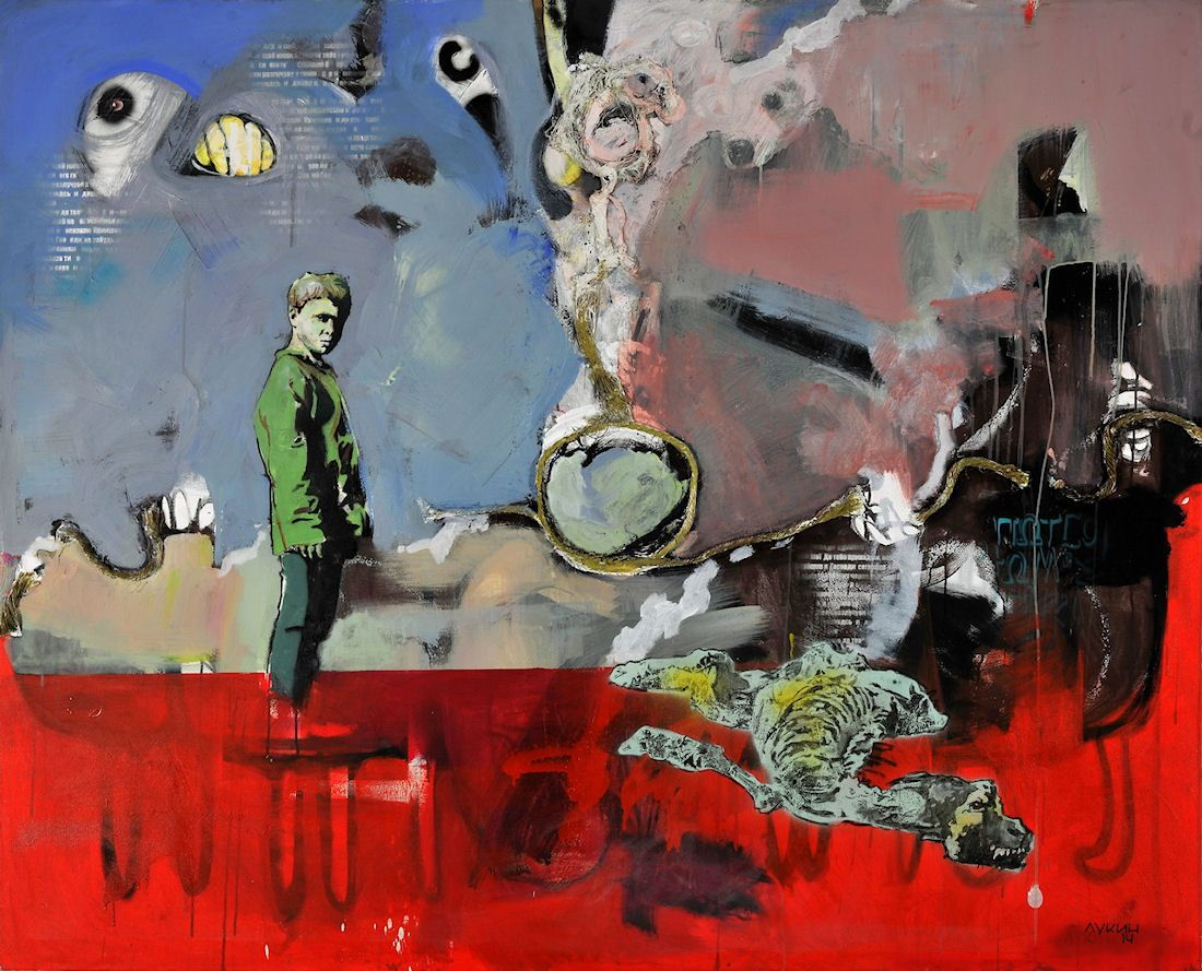 "Kyiv Art Week. Karas Gallery: Nikolay Lukin's project ""Residential District"". #interdema #art #event #exhibition #Kiev #Ukraine #мероприятие #арт"