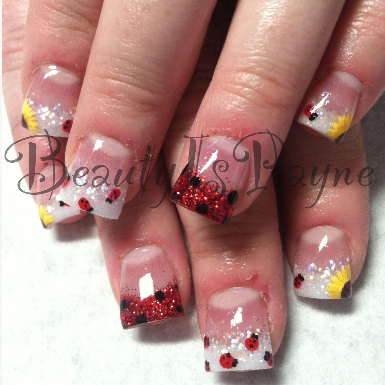 Beautyispayne Lady Bug Nails Beauty Is Payne Pinterest Lady