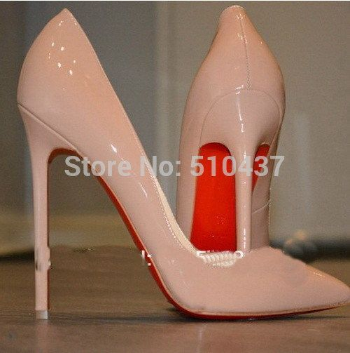 adf524852d5 Find More Pumps Information about 2015 Free Shipping Free Delivery PIGALLE  120 mm Nude Patent Leather Pumps Heels Black and Nude Pink color shoes Red  Bottom ...