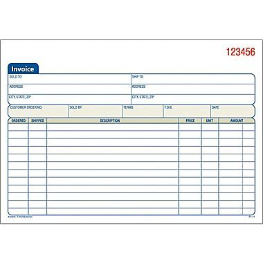 Adams® Carbonless Invoice Forms, 5-9 16 - how to fill out an invoice