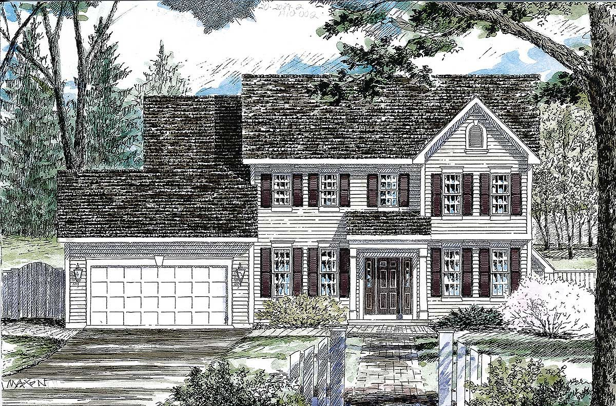 Plan 19612jf Classic Colonial House Plan Colonial House Plans Colonial House French House Plans
