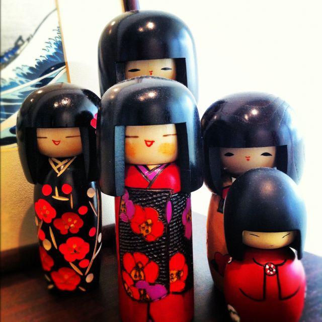 Kokeshi wooden dolls