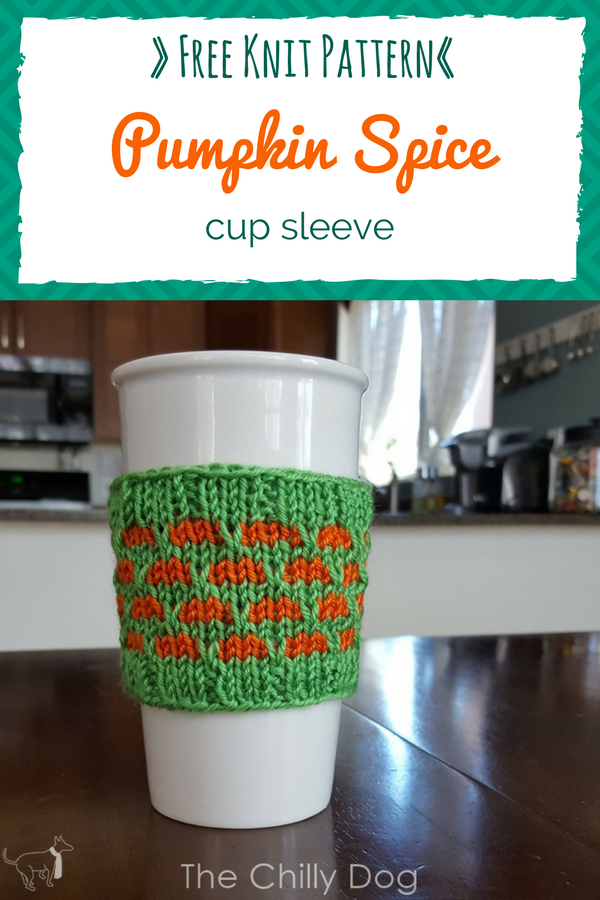 Knitting Pattern Pumpkin Spice Cup Sleeve Cup Sleeve Knitting
