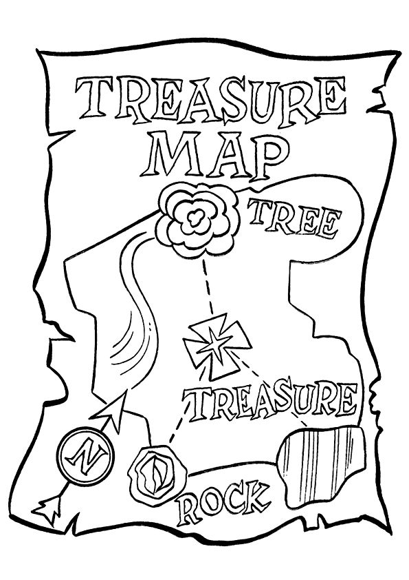 Treasure Map A4 Jpg 595 842 Pirate Coloring Pages Treasure Maps Coloring Pages For Kids