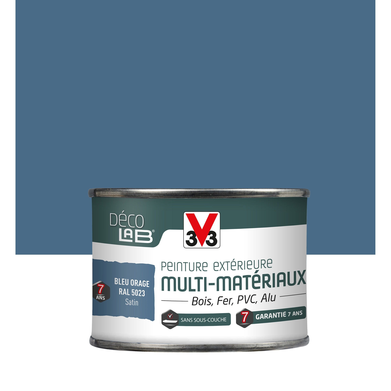 Peinture Multimateriau Exterieur V33 Bleu Orage Satine 0 125 L En 2020 Peinture Mur Exterieur V33 Peinture Exterieure