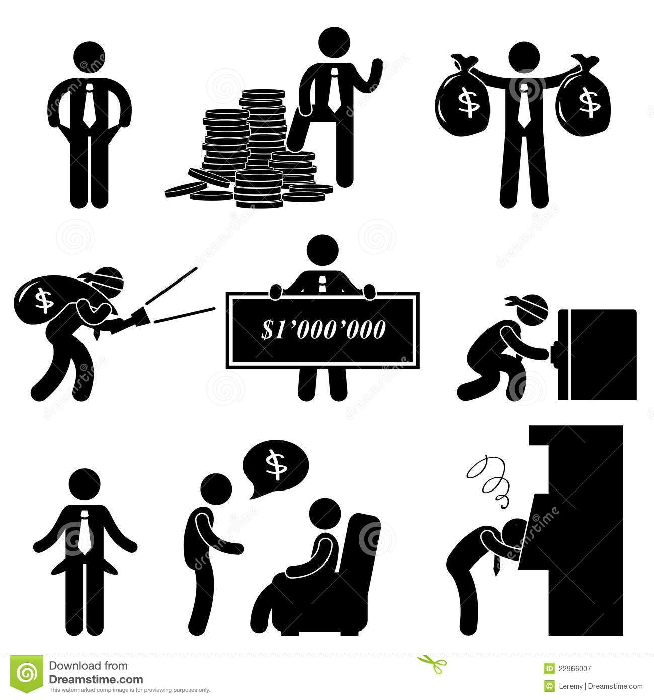 Rich poor man people pictogram 22966007g 13001390 writing illustration of rich poor success failure desperate businessman icon symbol sign vector art clipart and stock vectors sciox Images