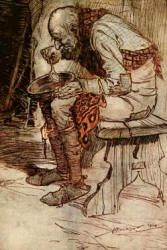 Arthur Rackham - colour illustration for 'Fred and Kay' from the 1909 Edition of ''The Fairy Tales of the Brothers Grimm''