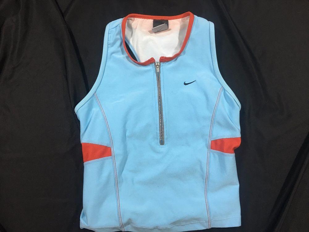 Women's Nike DriFit Racerback 1/2 Zip w/ Pocket Tank Top