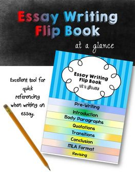 The Essay Writing Flip Book is a resource that I created for my students for essay writing. Even when they have learned the basics of the essay, they soon forget important details. This guide is an at a glance resource where students can quickly find the information they need so that they can concentrate on the bulk of their arguments.The Flip Book contains: -Pre-writing: finding a topic, understanding it, writing a thesis statement-Introduction writing: tips for writing and starting an in...