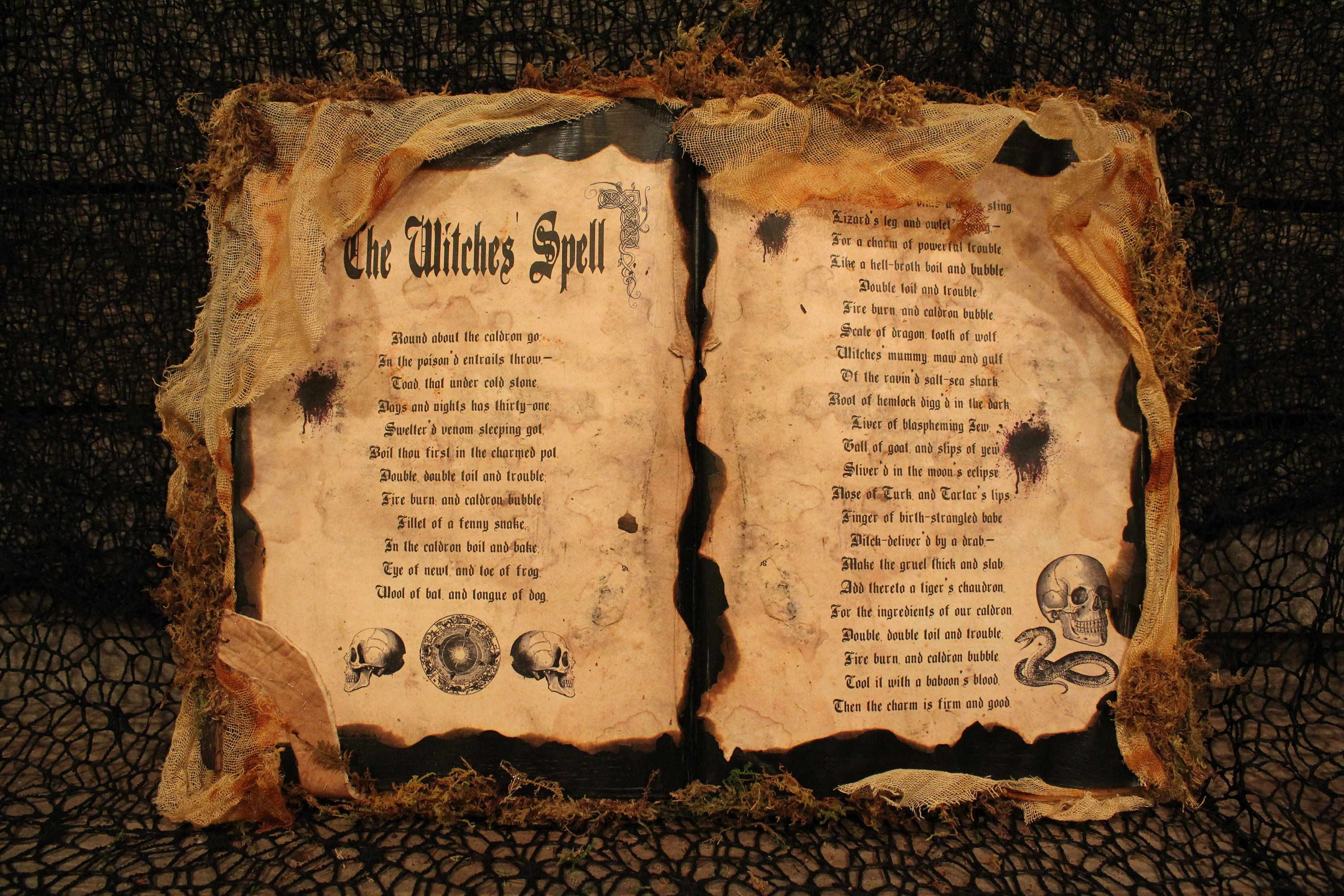 Halloween Spell Book The Witches Spell Halloween