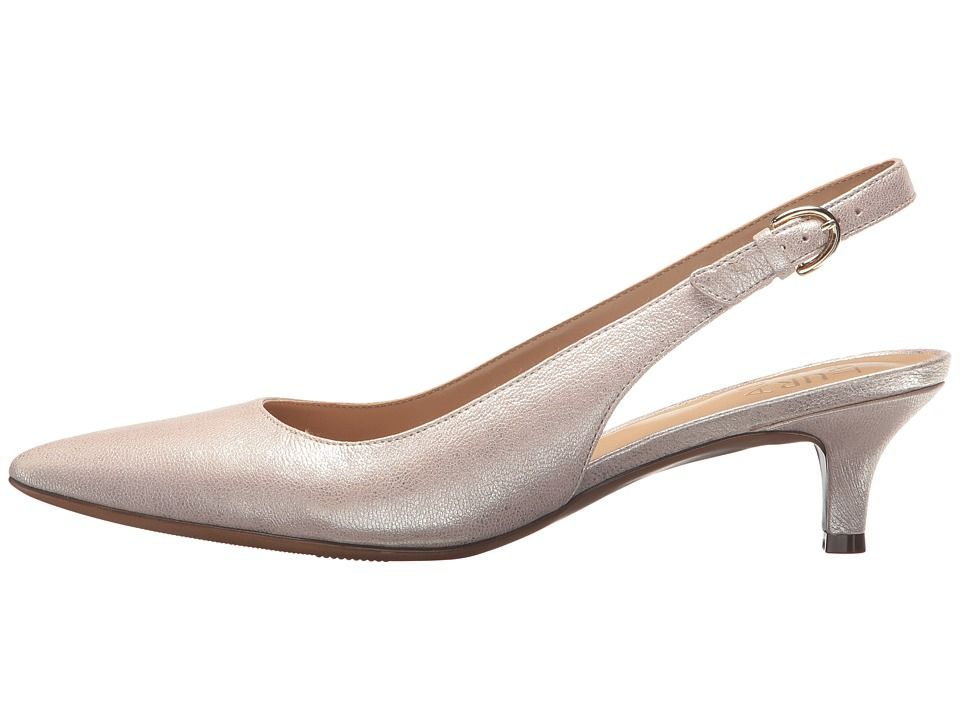 498a7840ba3 Naturalizer Peyton Women's 1-2 inch heel Shoes Taupe Metallic Dust Leather