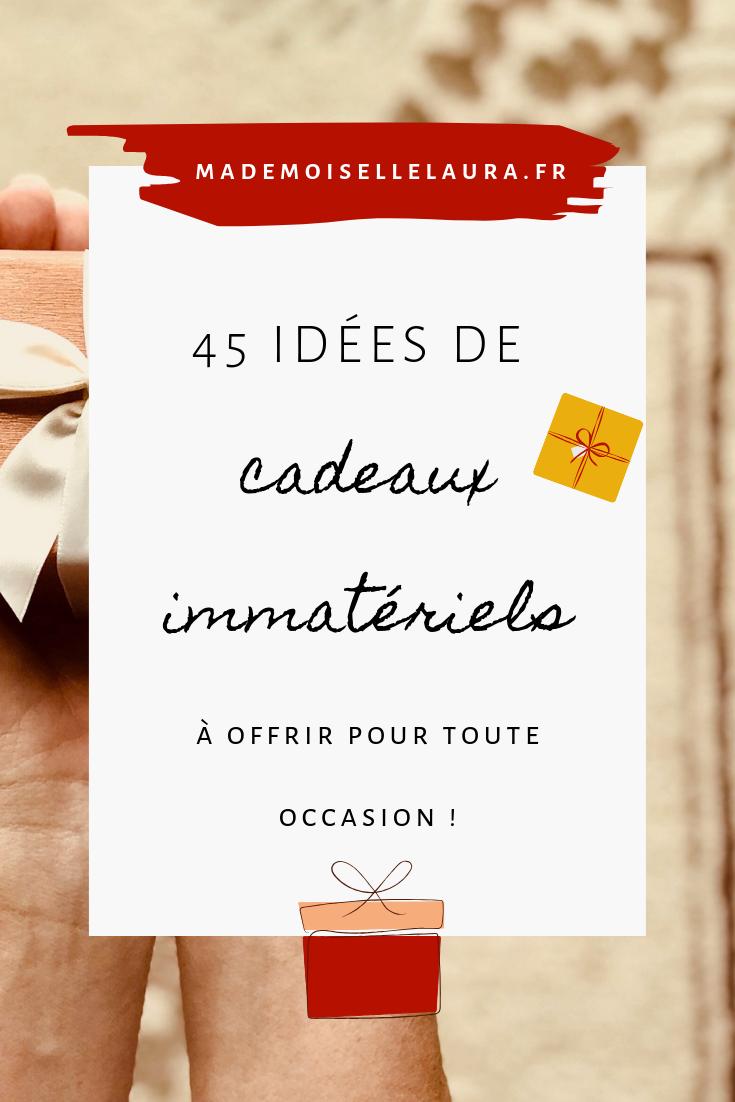 45 idées de cadeaux immatériels à offrir   Mademoiselle Laura