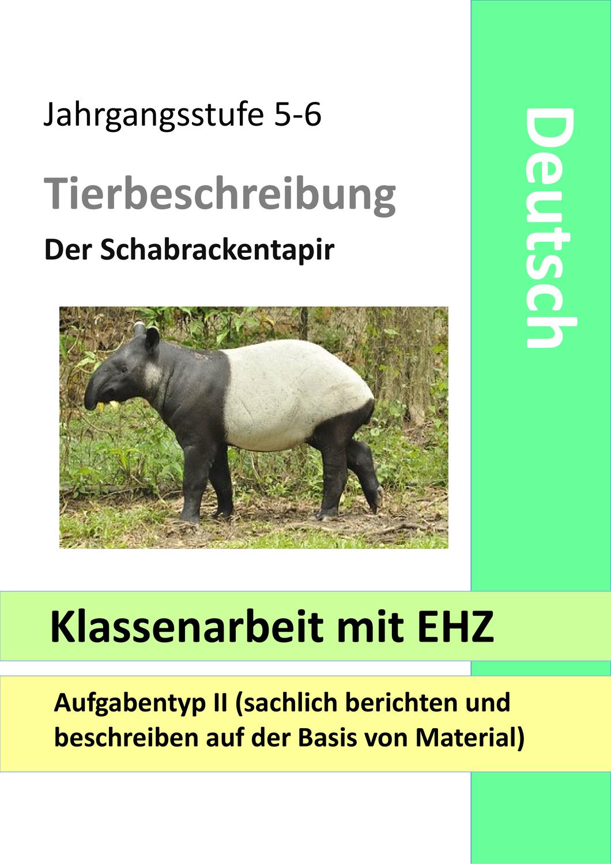 Klassenarbeit mit EHZ   Tierbeschreibung   Tiere beschreiben ...