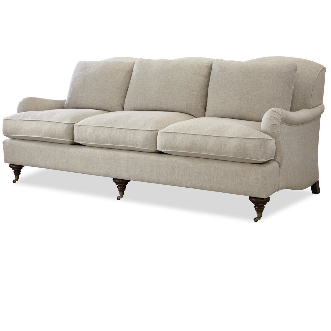 Churchill Linen Upholstered English Rolled Arm Sofa in ...