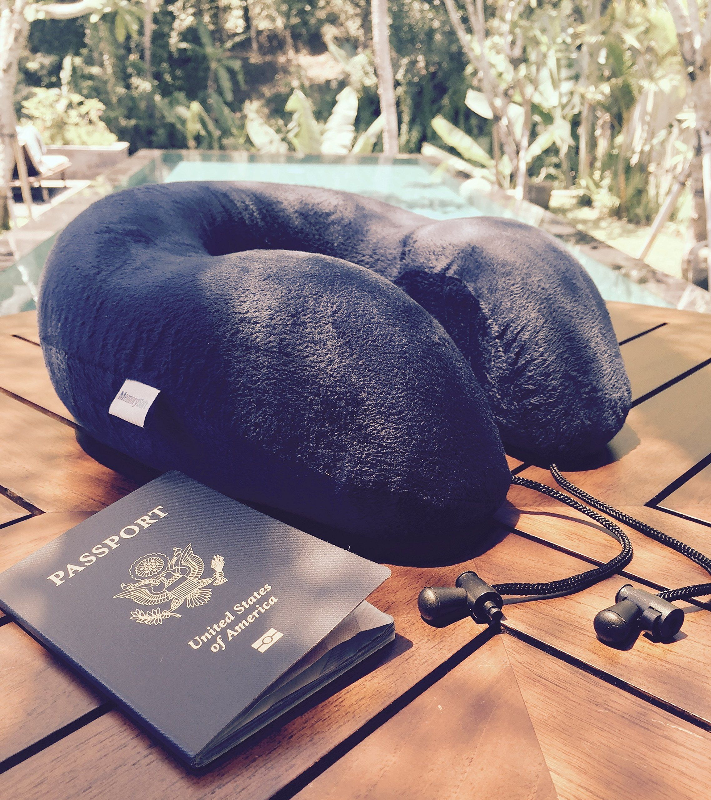 MemorySoft Luxury Travel Neck Pillow by