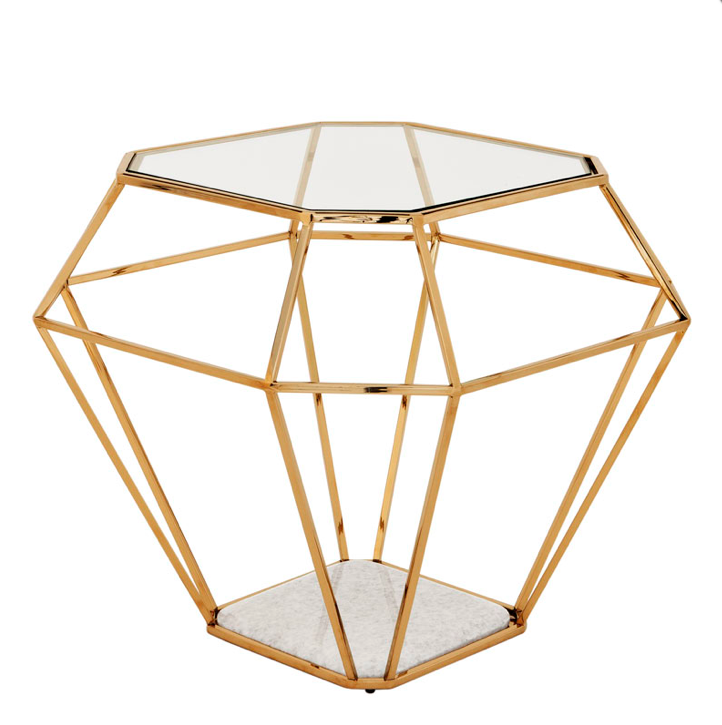 Gold Side Table Eichholtz Cher